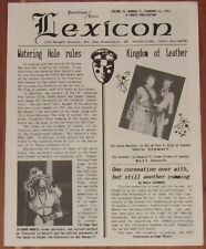 FEB 12 193 LEATHER/LEVI LEXICON NEWSLETTER VOL 4 NO 11, SAN FRANCISCO, LGBT