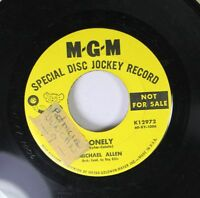 Pop Promo 45 Michael Allen - Lonely / Someday On Mgm