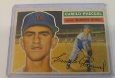 1956 TOPPS #98 Camilo Pascual EX CONDITION VINTAGE Baseball Card Washington Nats