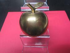 Vintage Metal Brass Apple Shaped Bell Home Decor 1960's Nr