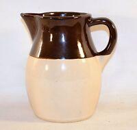 Vintage Roseville Pottery R.R.P. Co. USA Brown & Beige Pitcher Jug