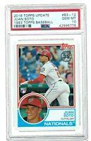 2018 Topps Update Juan Soto Rookie 1983 Topps Baseball #83-12 RC GEM MINT PSA 10