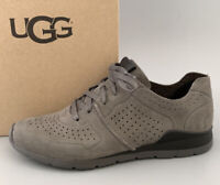 UGG Australia TYE LEATHER Sneaker Shoes Women Size 9 $140 #1016674 Charcoal NIB