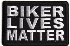 New Biker Lives Matter Quality Embroidered Iron On Biker Patch 3x2 inch
