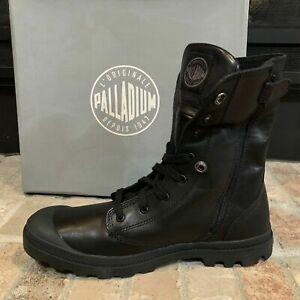 *NEW IN BOX*Palladium Men's Baggy LEA M ZIP LEATHER BLACK Boot US 12