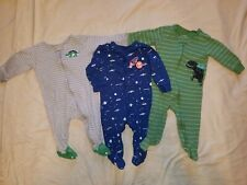 9 Month Baby Boy Footed Pajamas Lot of 3