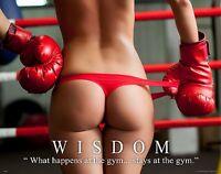 Workout Motivational Poster Art Print Gym Shorts Training Boxing Gloves  MVP496