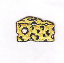 SWISS CHEESE -  FOOD -  Iron On  Embroidered Patch/Food, Cheese. Dairy Product