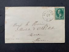 1870s Macon Mississippi Mobile Oh Railroad Confederate Navy Herring ! Clinton Nj