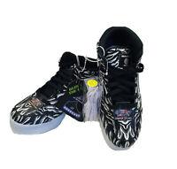 NEW Skechers Energy Light Up 2.0 Boy's Girl's Zebra Athletic Shoes High Top-Sz 7