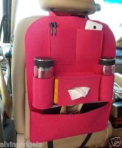 Car Back Seat Auto Accessory Storage Organizer For SUV Car Vehicle (Dark Blue)