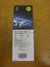 04/12/2012 Ticket: Borussia Dortmund v Manchester City [Champions League] (folde