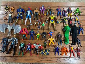 Assorted Action Figure Lot MOTU Toy Biz Wolverine Gi Joe Rambo Ghostbusters