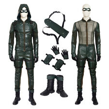 Green Arrow Season 5 Oliver Queen Cosplay Superhero Costume With Boots Any Size