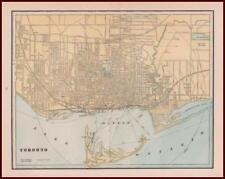 TORONTO, CANADA, antique color map, nice details, original 1887