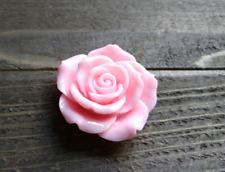 Large Flower Cabochon Flatback Light Pink Rose Resin Flower 45mm Big Flatback