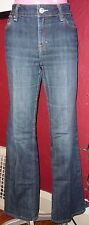 Blue Denim BANANA REPUBLIC Boot Cut Jeans Sz 8 Stretch Fray Hem Low/Mid-Rise