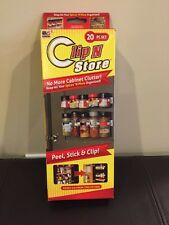 Clip N Store Kitchen Spice Organizer - AS SEEN ON TV - Peel, Stick & Clip 20 pcs
