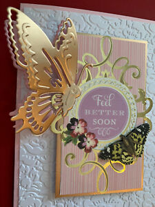 Anna Griffin Side Butterfly Metal Cut & Emboss Die Lots of Detail NEW