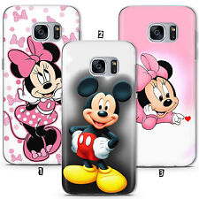 Disney Minnie Mickey Mouse Kid Étui Coque Samsung Galaxy S5 S6 S7 S8 Edge A J