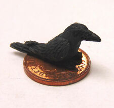 1:12 Scale Hand Made Polymer Clay Black Bird Dolls House Miniature Garden Pet b
