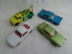 Vintage Matchbox Lesney RW Dodge Wreck Truck / Lincoln / Ford Mustang / Mercury
