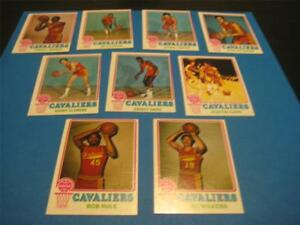 1973/74 Topps Cleveland Cavaliers Team Set 9 Cards NM