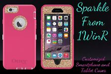 Otterbox Defender Case Customized Glitter Made For iPhone 6s Plus Pink/Gold