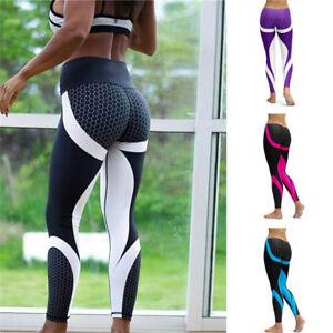 Women's Fitness Leggings Running Yoga Gym Pants Workout Wear LG