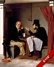 THE HARD SELL OF POLITICAL CONVERSATION OYSTER HOUSE PAINTING ART CANVAS PRINT