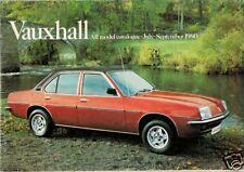 Vauxhall Chevette Astra Cavalier Carlton Royale July-September 1980 UK Brochure