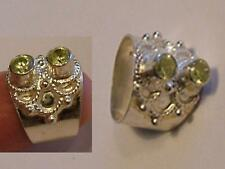 Peridot (August) 925 Ornate STERLING SILVER Ring sz 6