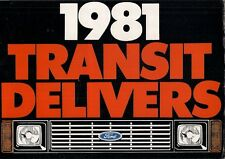 Ford Transit Mk2 Van Specification Improvements 1981 UK Market Foldout Brochure