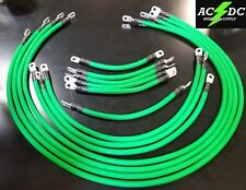 # 1 Awg HD Golf Cart Battery Cable 13 pc GREEN TXT E-Z-GO Set U.S.A MADE