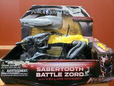 RARE 2016 SABANS POWER RANGERS SABERTOOTH BATTLE ZORD W/ YELLOW RANGER NIB