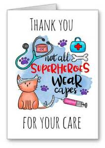 Vet Thankyou Thankyou Card Veterinary for your care