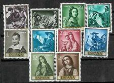 España Spain Edifil # 1418/1427 ** MNH Set Zurbaran Pintura