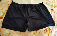 NEW MEN'S BIG & TALL 5XL (56-58) ATHLETIC WORKS SHORTS NAVY BLUE 100% POLY.