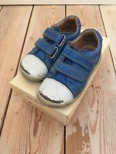 Boys Blue Riptape Leather Startrite Casual Trainers Shoes Flexy Soft Milan, 7F