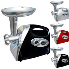 Elpine 1200 W Reversible Meat Grinder in Silver with 3 Stainless Cutting Plates