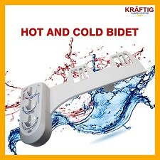 EASY TOILET BIDET HOT & COLD WATER WASH SEAT ATTACHMENT HYGIENE SPRAY SPRAYER