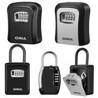 Wall Mounted/Padlock 4-Digit Combination Key Lock Storage Outdoor Home Safe Box