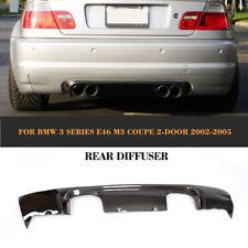 Carbon Heckdiffusor Spoiler Auspuffblende Heckansatz für BMW E46 M3 CSL 2001-06