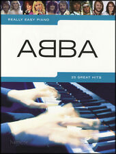 Really Easy Piano ABBA Sheet Music Book Songbook 25 Great Pop Hits