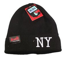 Bloods New York Black Beanie Hat, Designer NY Logo Beanies, Limited Edition