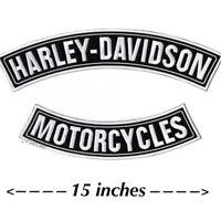 "HARLEY DAVIDSON ROCKER PATCHES Motorcycle Jacket Patch Large 15"" SHIPS SAME DAY!"