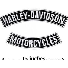 "HARLEY DAVIDSON ROCKER PATCHES Motorcycle Jacket Patch Large 15"" SHIPS SAME DAY!"