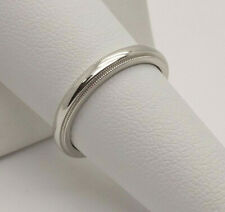 Tiffany & Co. 3mm Platinum 950 Polished Half-Round Milgrain Wedding Band