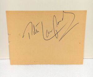 PETER LAWFORD VINTAGE SIGNED ALBUM PAGE--RAT PACK MEMBER--JFK IN LAW--(D-1984)