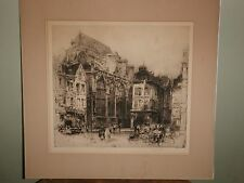 Original Hedley Fitton Etching - The Church of St. Jean de Troyes